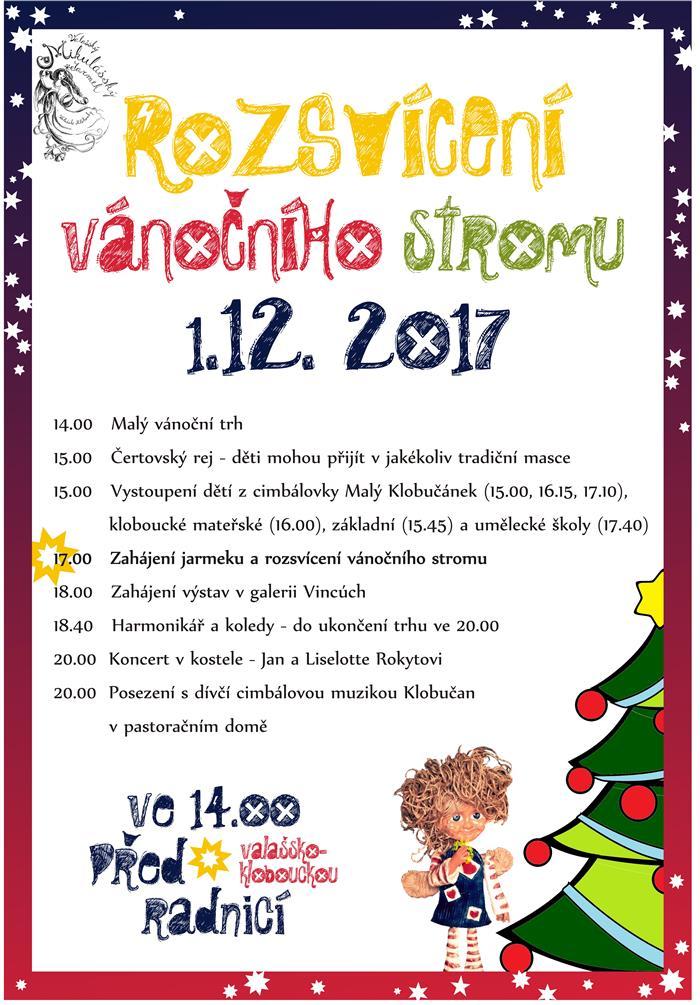 Rozsvěcování vánočního stromu města  Valašské Klobouky 7b1e126207