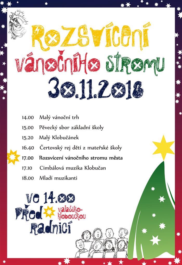 Rozsvícení vánočního stromu  Valašské Klobouky 58c5b5ac94